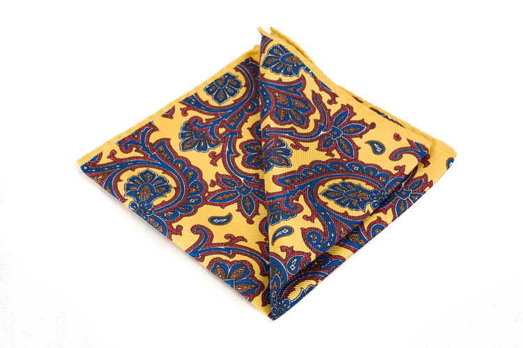 Silk Paisley - Yellow/Blue/Burgundy