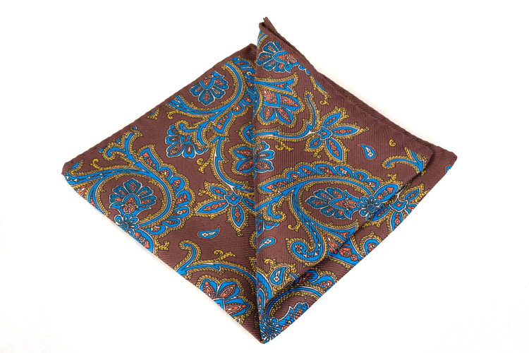 Silk Paisley - Brown/Blue/Yellow