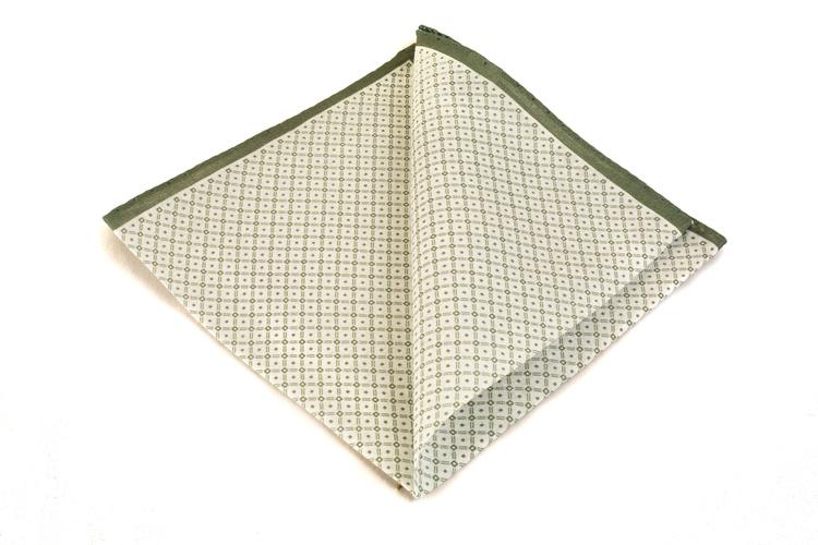 Cotton Squares - White/Green