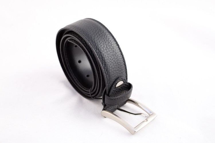 Calf Leather Belt - Black