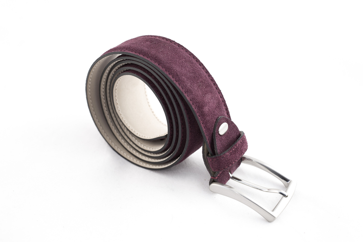 Suede Belt - Plum