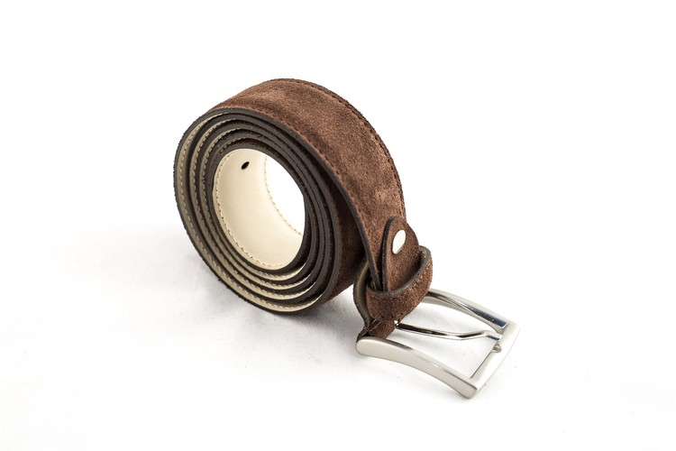 Suede Belt - Brown