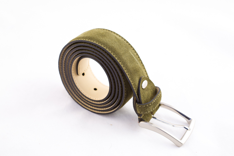 Suede Belt - Green