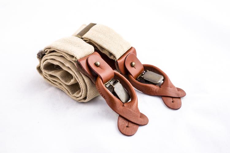 Suspenders Solid - Beige