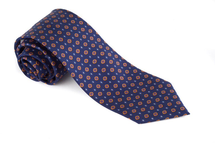 Printed Floral - Navy Blue/Orange/Red