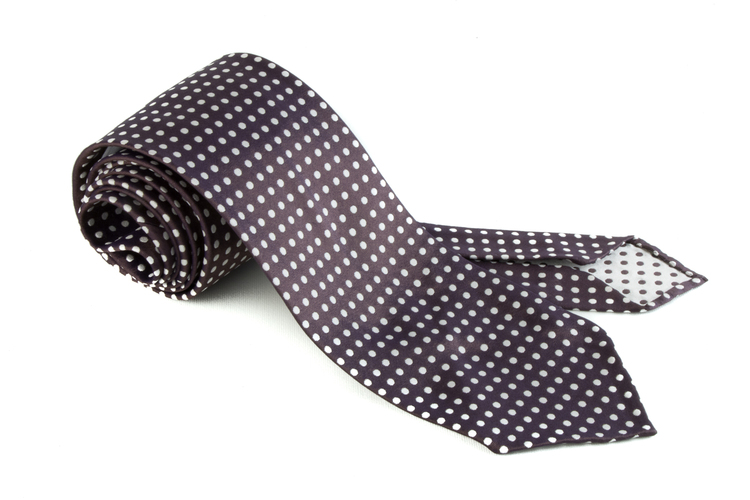 Silk Polka Dot Untipped - Brown/White