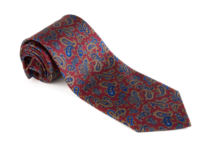 Printed Paisley - Burgundy/Blue/Orange