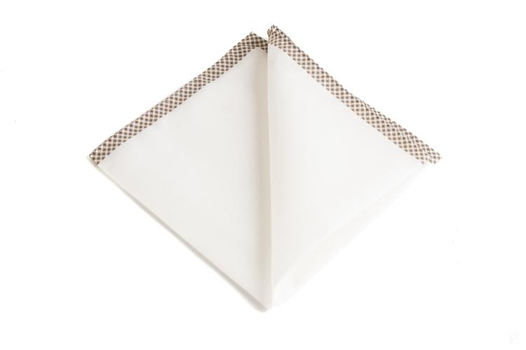 Cotton Shoestring - White/Brown