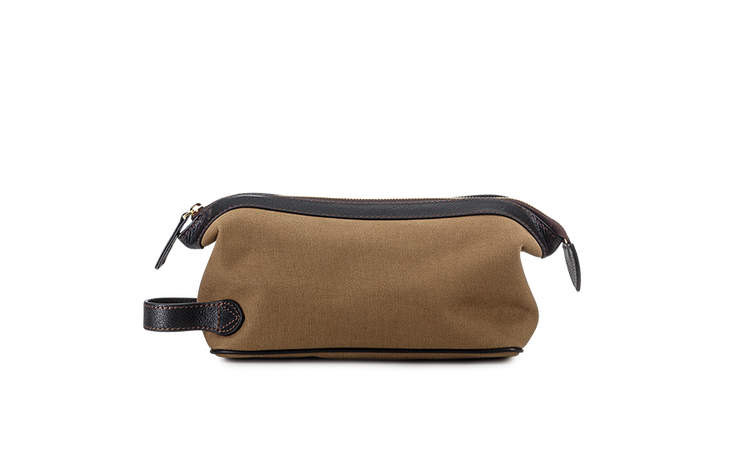 Wash bag - Khaki Canvas