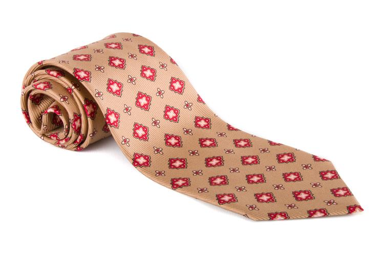 Vintage Floral - Beige/Red