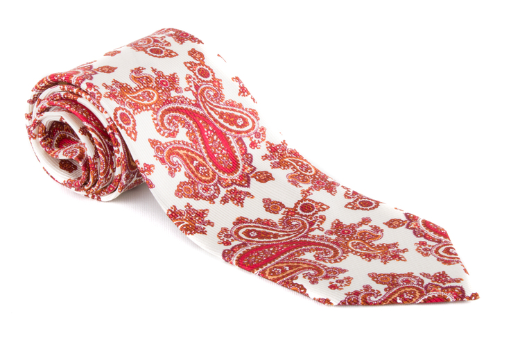 Vintage Paisley - Citrus/Red