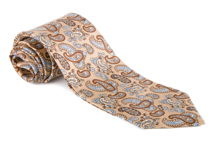 Vintage Paisley - Beige/Brown/Navy Blue