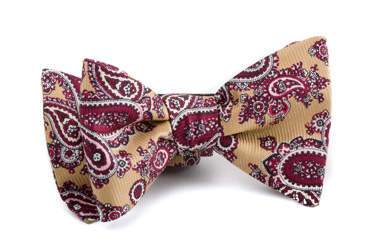 Self tie Silk Vintage - Yellow/Red/White
