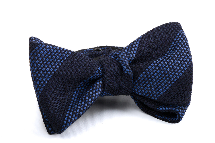 Self tie Grenadine Regimental - Navy Blue