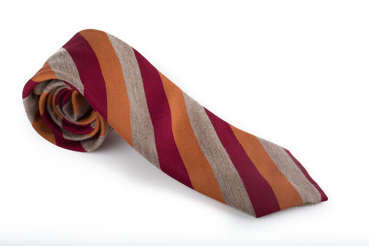 Wool Regimental - Orange/Red/Beige