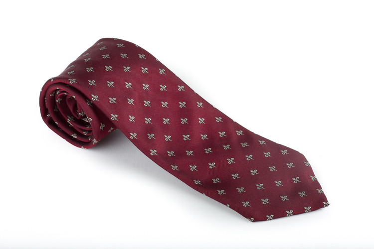 Silk French Lily - Burgundy/Bronze