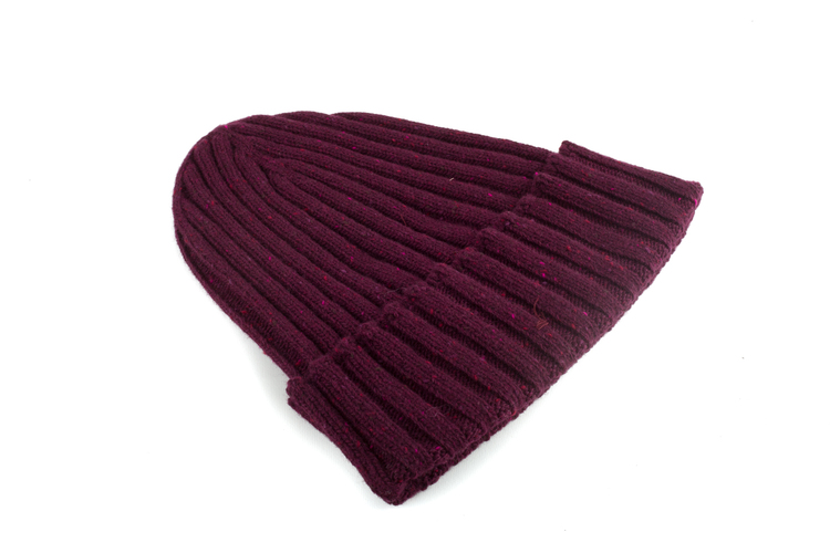Cap Wool Donegal - Burgundy