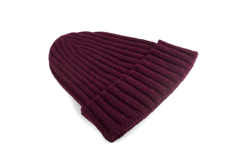 Cap Wool Donegal - Burgundy