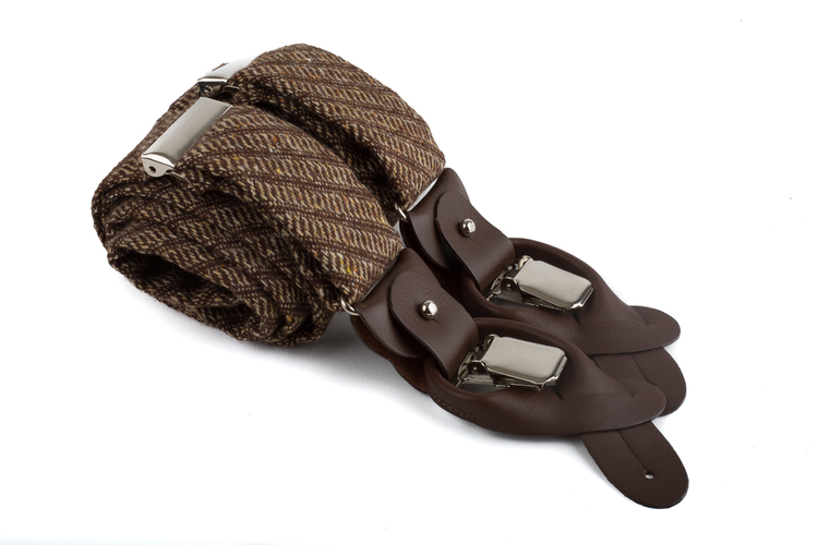 Suspenders Solid - Brown/Beige