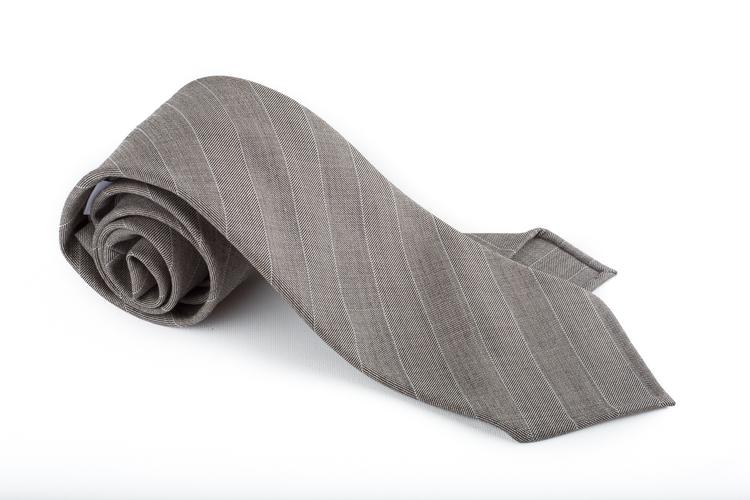 Wool Untipped Regimental - Beige/White