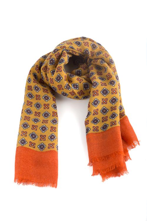 Wool Floral - Yellow/Orange/Brown