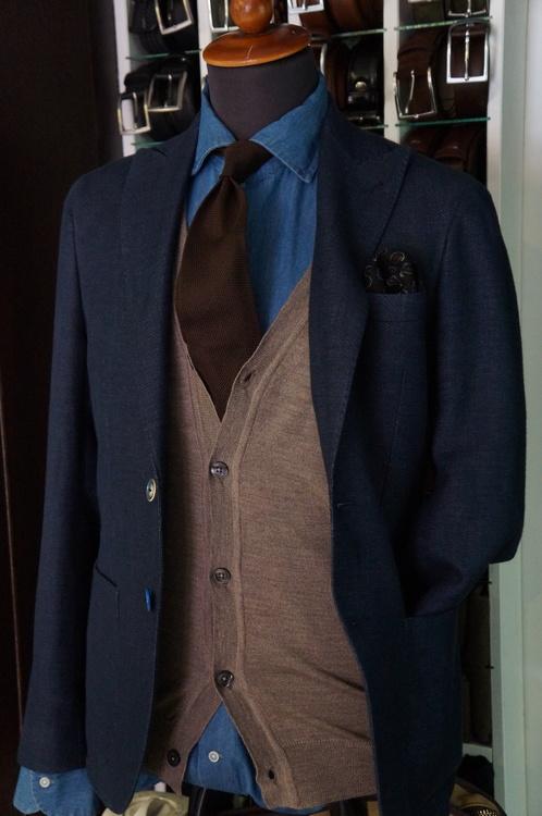 Solid Silk Grenadine Fina Tie - Untipped - Brown