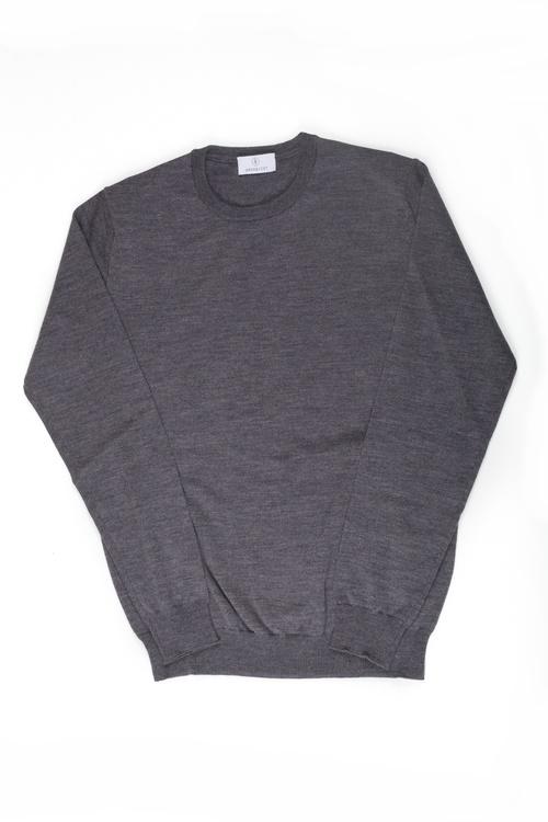 Crewneck Merino Pullover - Grey