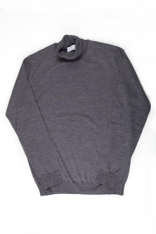 Rollneck Merino Pullover - Grey