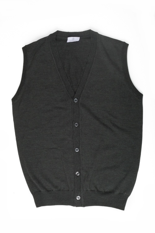 Vest Merino - Dark Green
