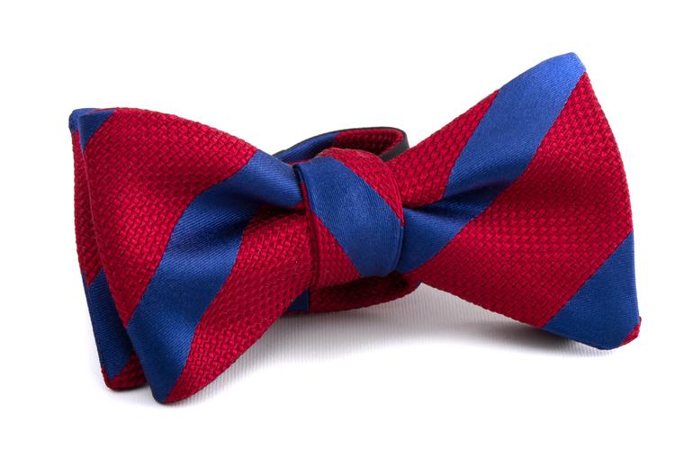 Self tie Grenadine Regimental - Red/Blue