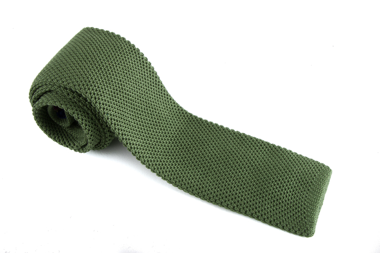 Knitted Silk - Olive Green