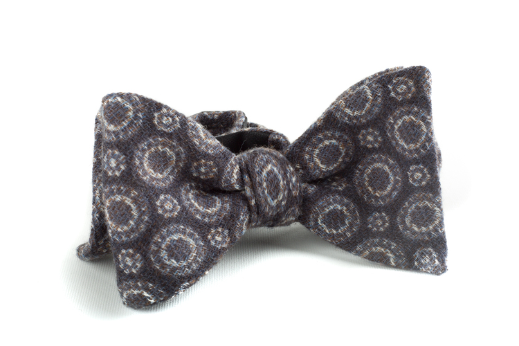 Self tie Wool Circular - Grey