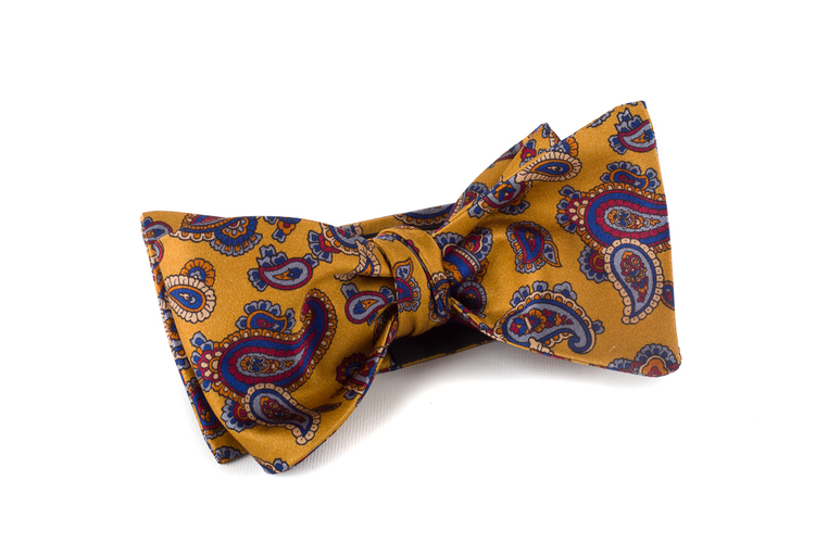 Self tie Silk - Yellow/Navy Blue/Grey/Purple