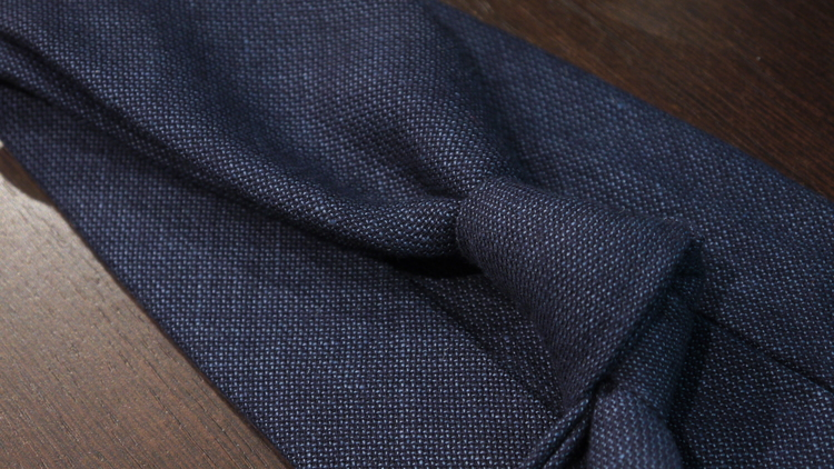 Wool Untipped Solid - Navy Blue
