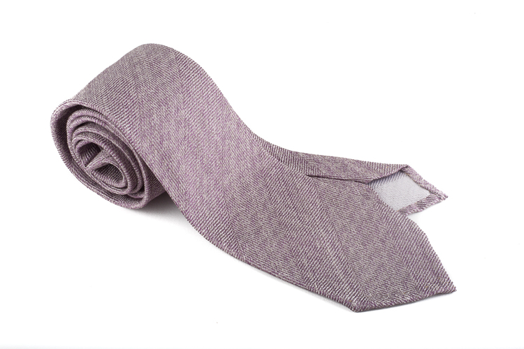 Silk Herringbone Untipped - Purple
