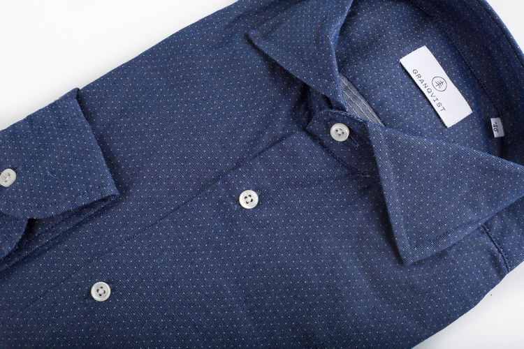 Pin Dot  - Navy Blue/Light Blue