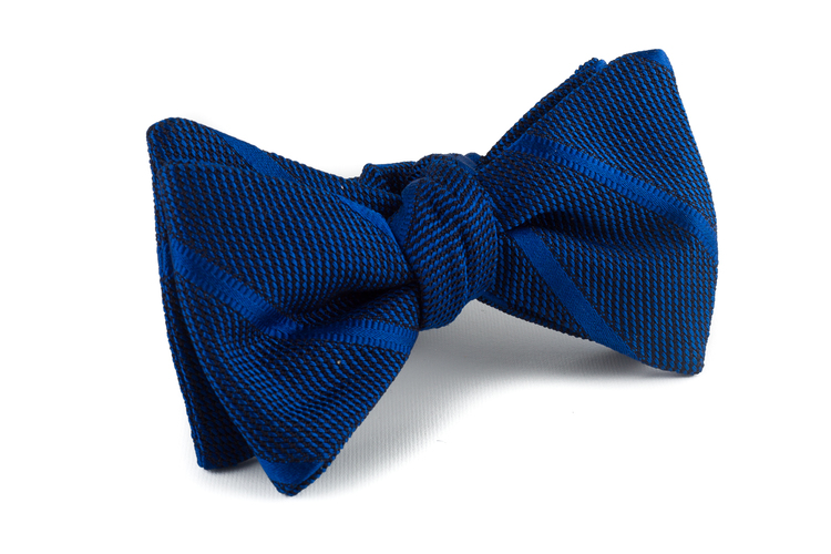 Self tie Grenadine Regimental - Navy Blue