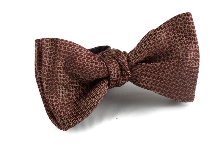 Self tie Grenadine Solid - Dark Brown