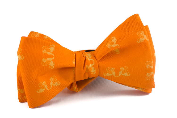 Self tie Silk Lion - Orange/Yellow