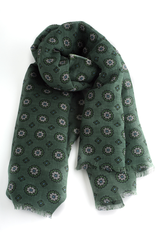 Scarf Floral - Green