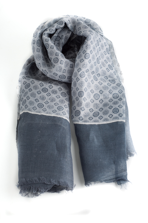 Scarf Medallion - Grey
