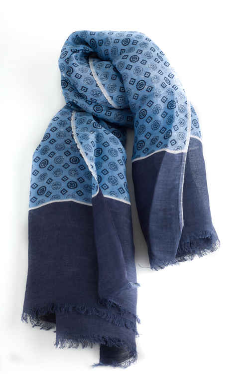 Scarf Medallion - Navy Blue