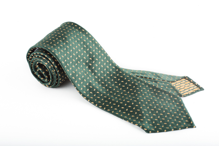 Silk Paisley Untipped - Green/Yellow