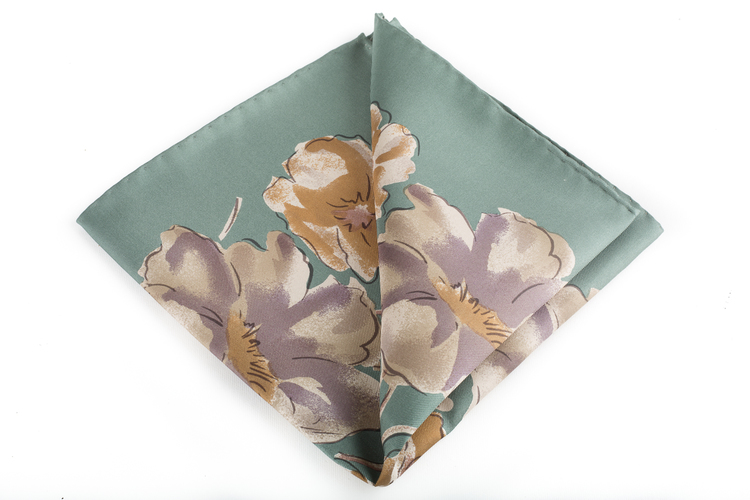 Silk Floral Vintage - Mint Green/Beige/Purple/Orange