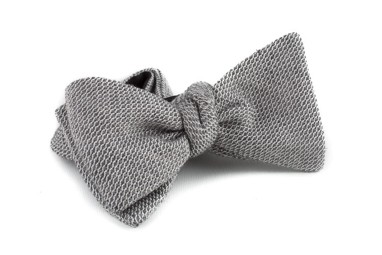 Self tie Grenadine Solid - Grey