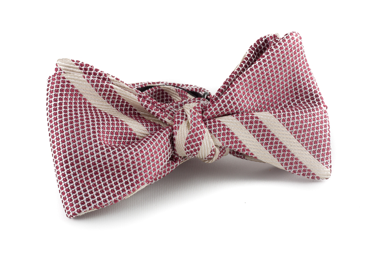 Self tie Grenadine Regimental - Red/White