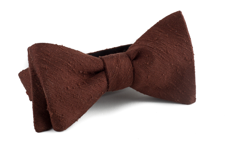 Self tie Shantung Solid - Brown