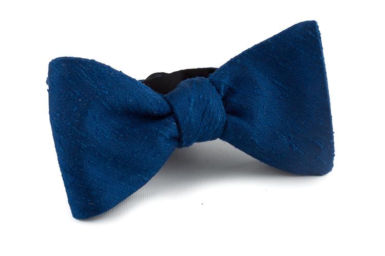 Self tie Shantung Solid - Light Navy Blue