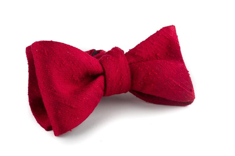 Self tie Shantung Solid - Red