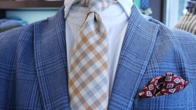 Wool Untipped Plaide - Creme/Grey/Orange